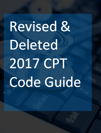 Revised and Deleted CPT Codes for 2017