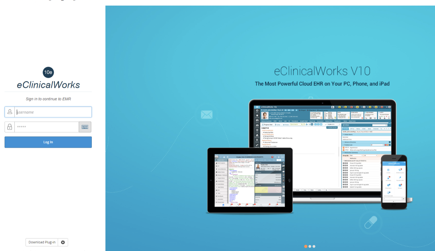 eClinicalWorks Cloud Based 10e EHR