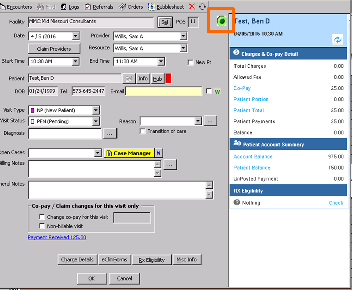 How to View the Appointment Panel from an Office Visit in eClinicalWorks