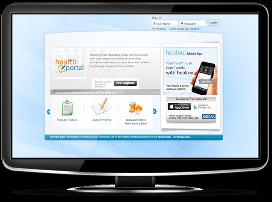 eClinicalWorks EMR patient portal