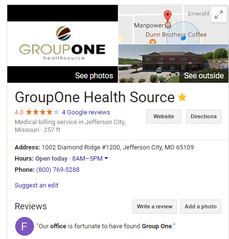 GroupOne Health Source Reviews