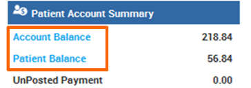 Patient Account Summary in eClinicalWorks EHR